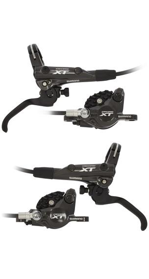 Shimano Deore XT BR-M8000 Scheibenbremsen Bundle mit J02A Resin/Kühlrippen schwarz